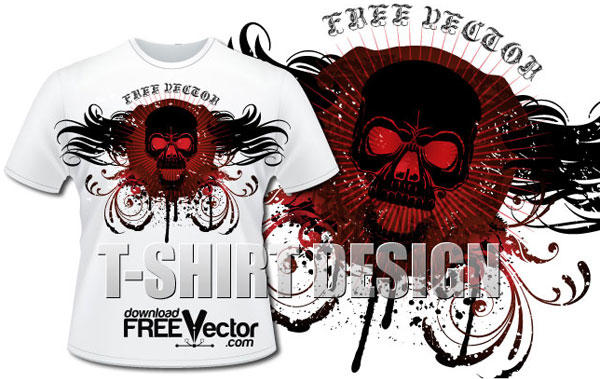 Skull T shirt Design Vector | 123Freevectors