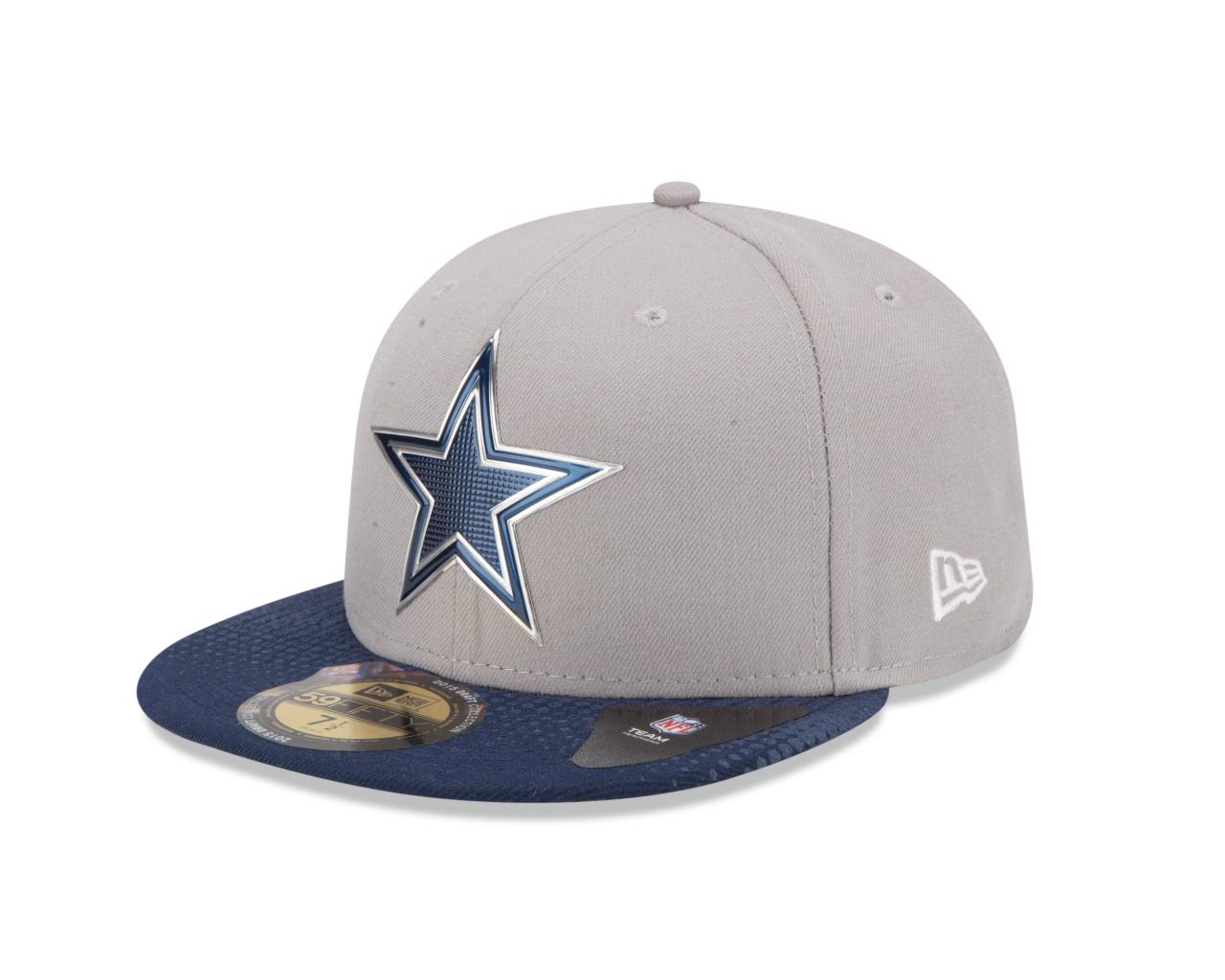 Dallas Cowboys NFL On Stage Draft 5950 Gray Fitted Hat (Gray)