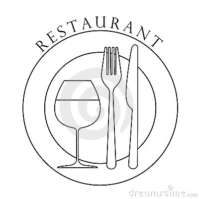 Restaurant logo design. Vector Art