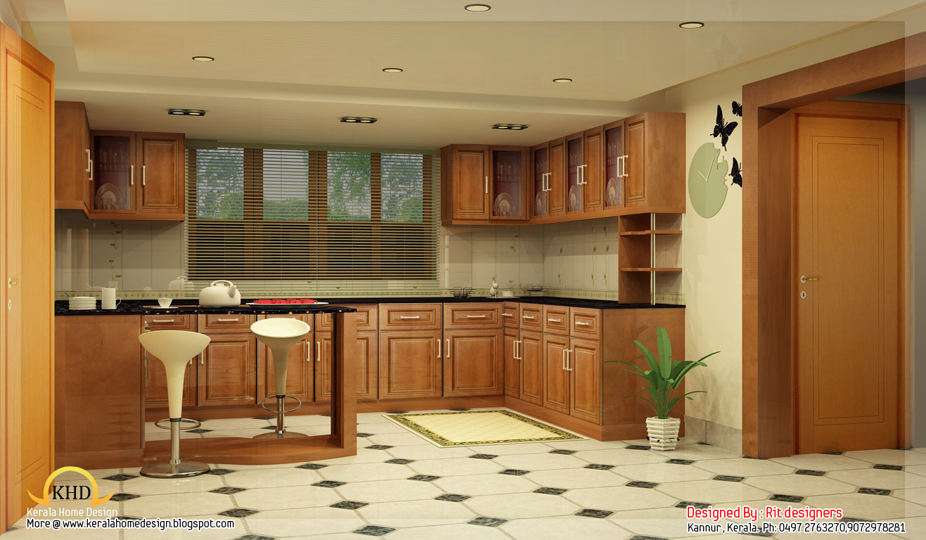 Beautiful 3D interior designs - Kerala home design and floor plans