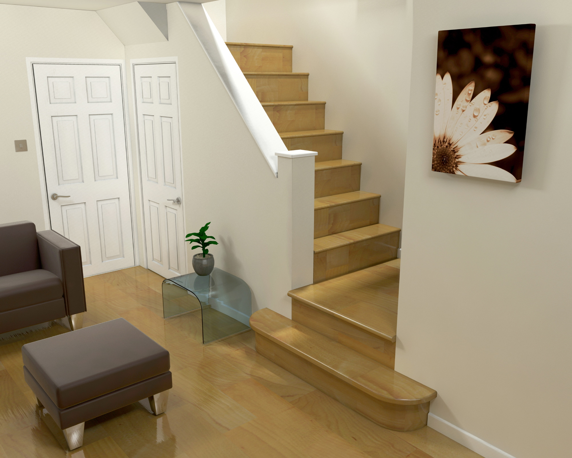 3d design 3d design of a room with stairs interior design marbella 3d ...