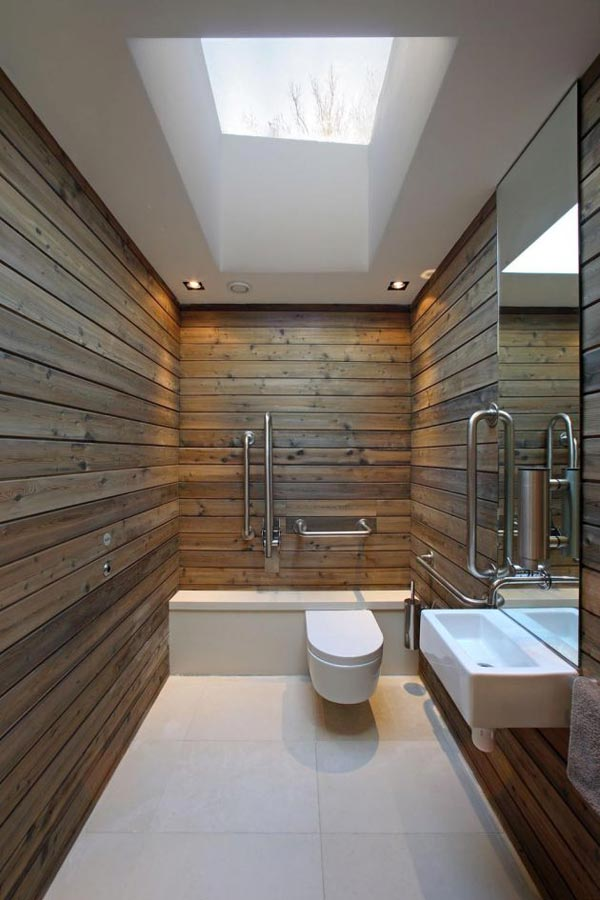 Bathroom: Antique Classic Wood Rustic Bathroom Design