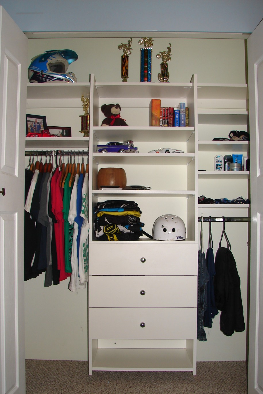 ... Small Space : Awesome Closets Organizers Arts White Color Design Ideas