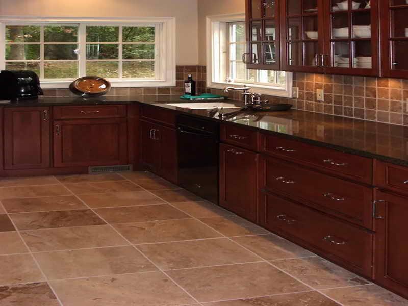 Flooring:Kitchen Tile Floor Ideas Brown Kitchen Tile Floor Ideas