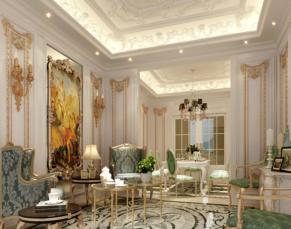Classic French luxury interior design | Download 3D House