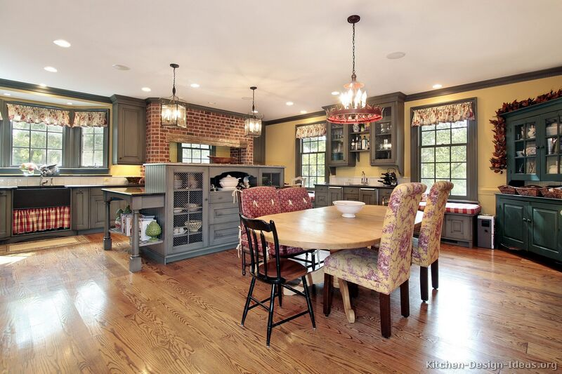 Country Kitchen Interior Design and Decorating Ideas