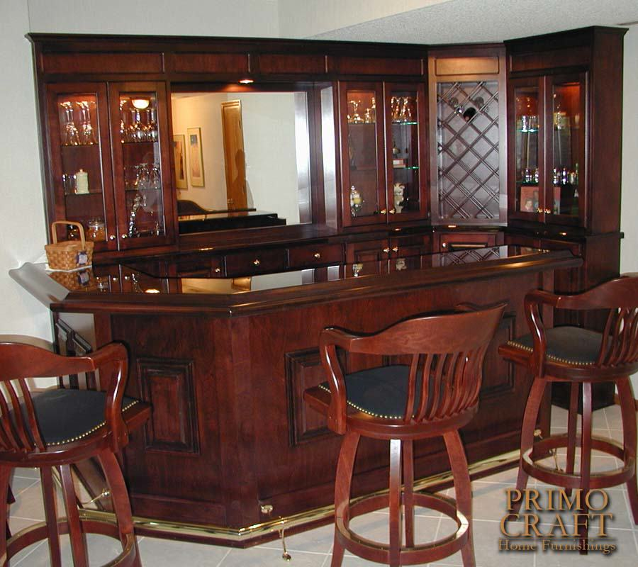 Custom Wood Home Bar Primo Craft - Dmetree