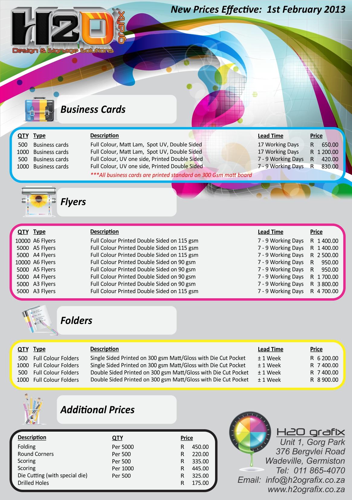 General PRinting Prices