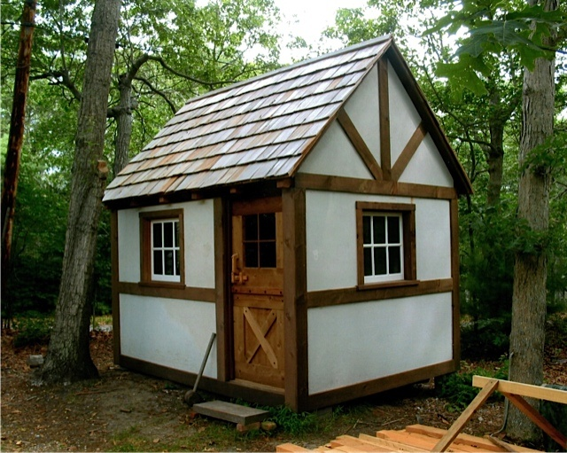 recently emailed me to share photos of a timber framed micro-cottage ...