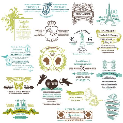 ... of Wedding logo Design Elements vector 03 - Vector Logo free download