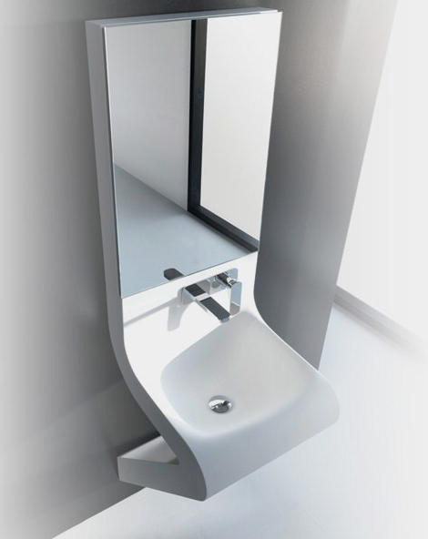 Wash Basin Designs - new Wave washbasin by ArtCeram with integrated ...