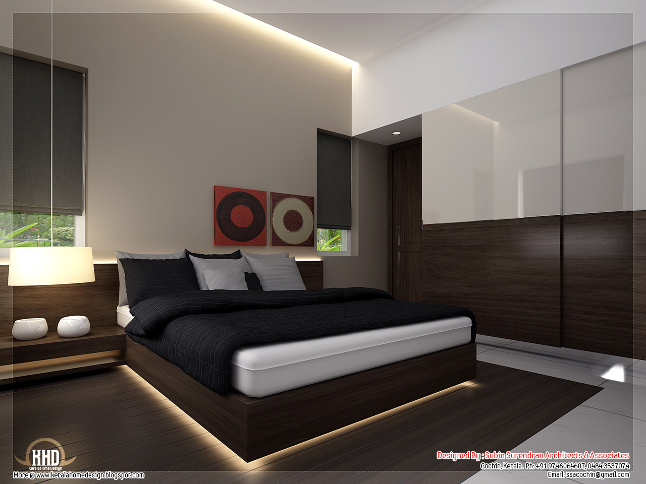 Beautiful home interior designs - Kerala home design and floor plans