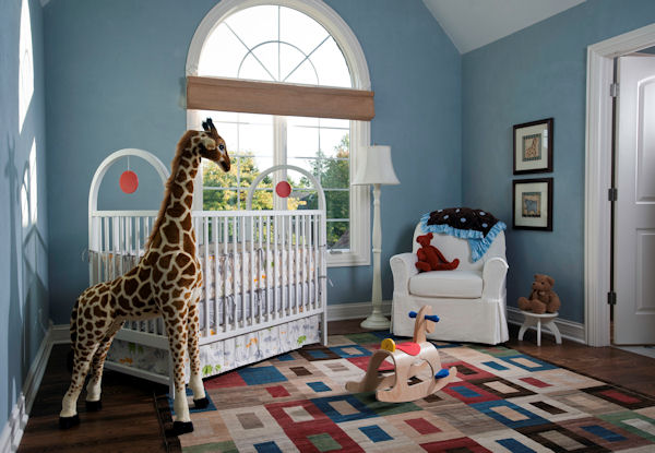 blue wall paint baby boy nursery ideas | Inspired Home Designs
