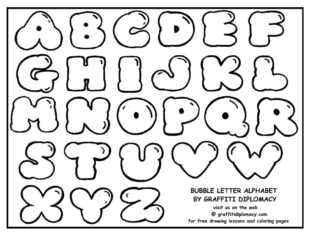How to draw bubble letters - Learn to draw Graffiti - easy, amazing ...