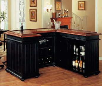 Custom Home Bar & Custom Bar Design - ManhattanCabinety.com - New ...