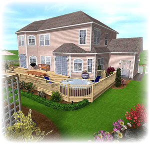 broderbund 3d home landscape designer deluxe 5 garden composer etc