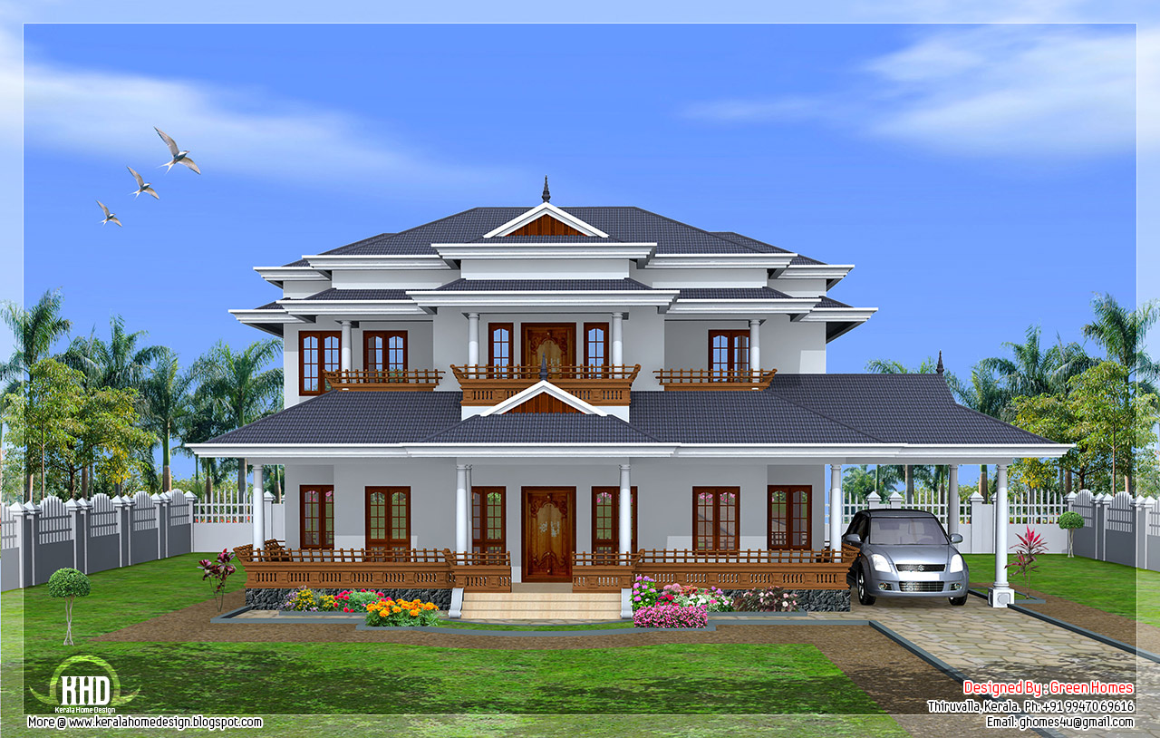 ... Kerala model 5 bedroom luxury home design by Green Homes , Thiruvalla