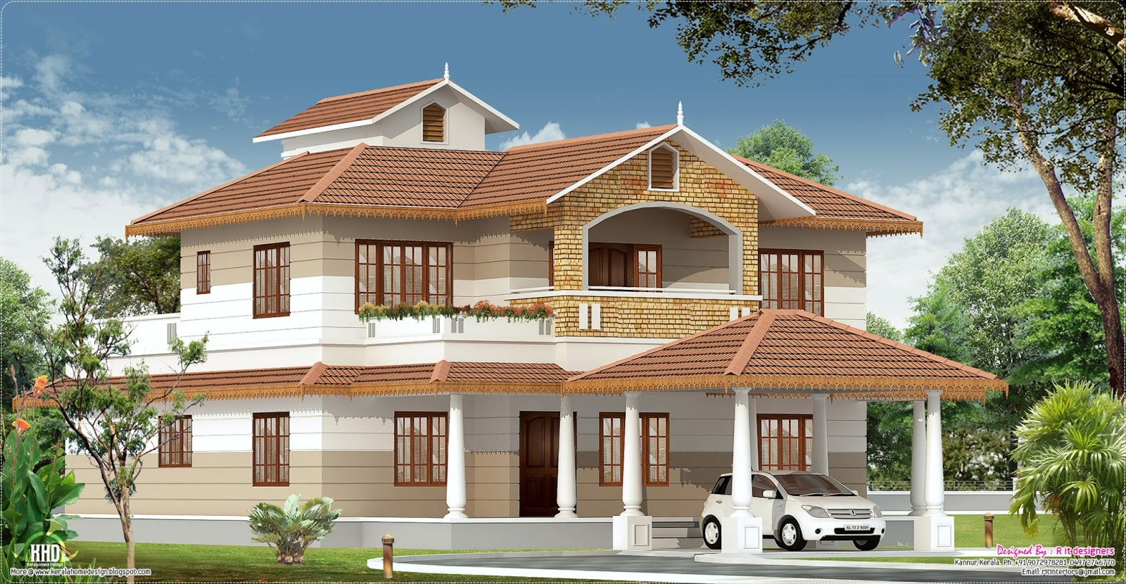 2700 sq.feet Kerala home with interior designs