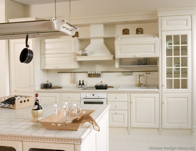 ... of Kitchens - Traditional - White Kitchen Cabinets (Kitchen #135