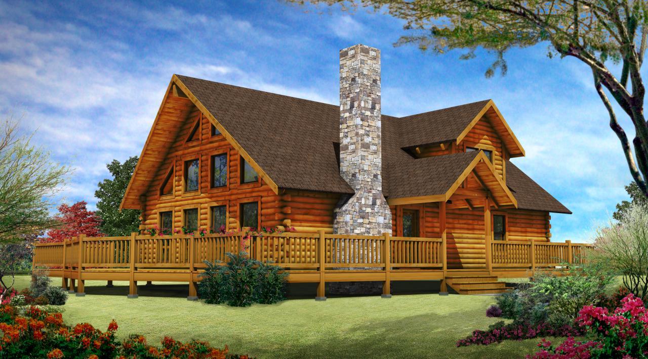 Trendy log home designs – Log Homes, Log Cabins, Log Home Floor ...