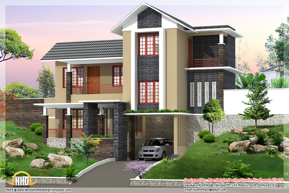 New trendy 4bhk Kerala home design - 2680 sq.ft. - Kerala home design ...
