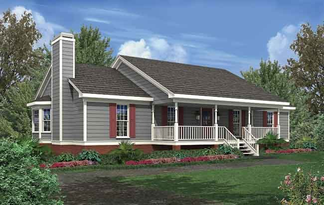 Ranch home designs joy studio design gallery photo for Simple house plans with porches