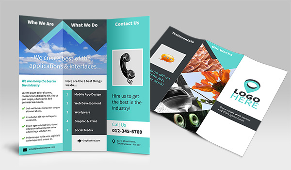design freebie is a clean and modern tri-fold brochure design ...