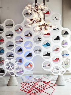 Shoe Display Ideas on Pinterest | Shoe Display, Shop Interiors and Wi ...
