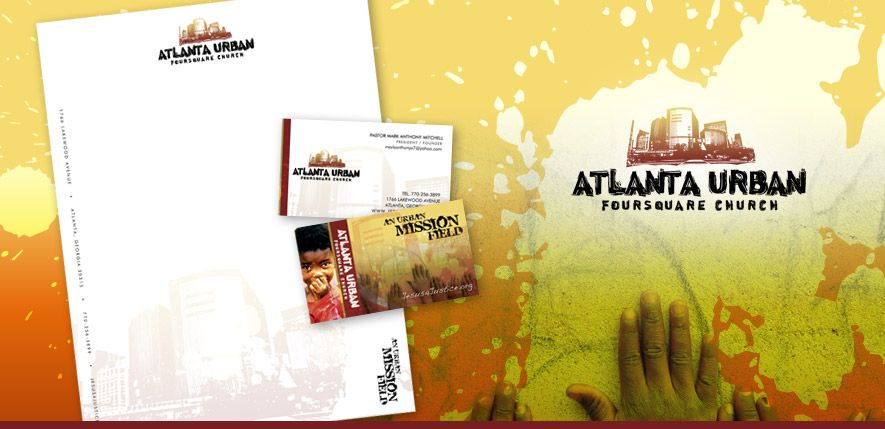 Graphic Design - Atlanta Urban Church - Barrett Creative