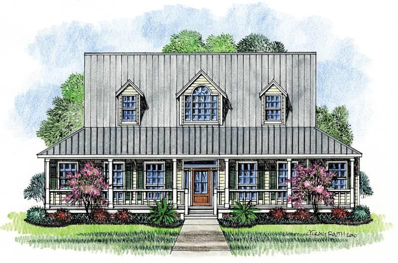 Farm House - Acadian House Plans Cottage Home Plans