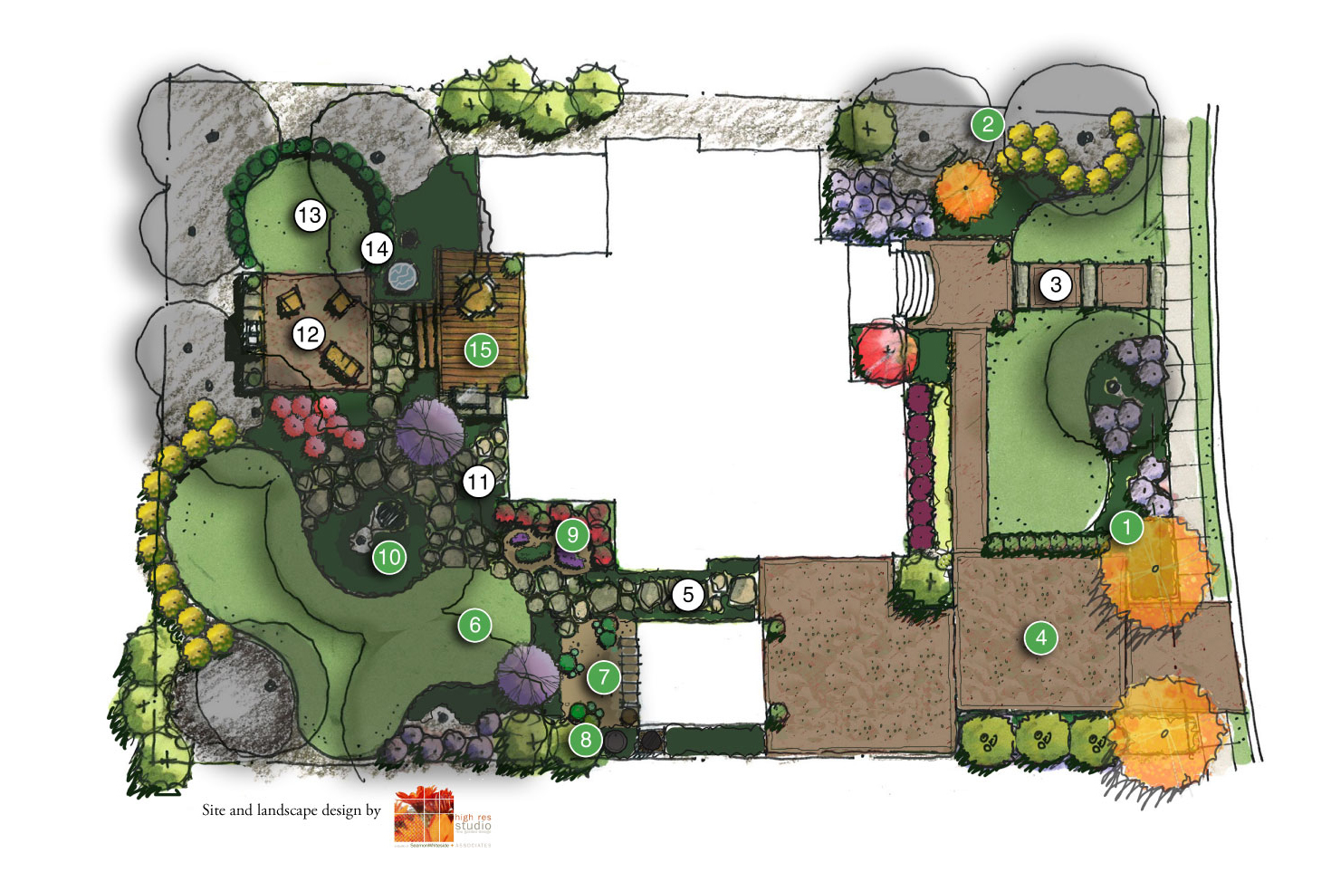 Landscape design connects Showcase Home interior and exterior spaces ...