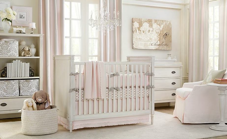Baby Nursery Room Design Ideas – White and pink baby nusery room ...
