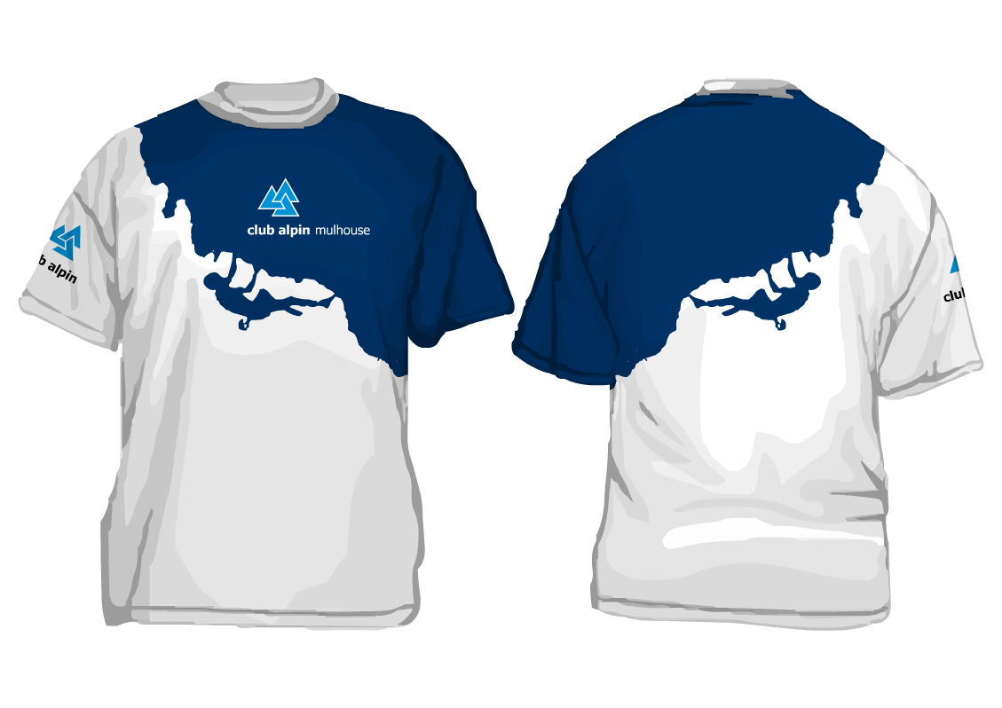 designed this T-shirt which can be made in two different colours: