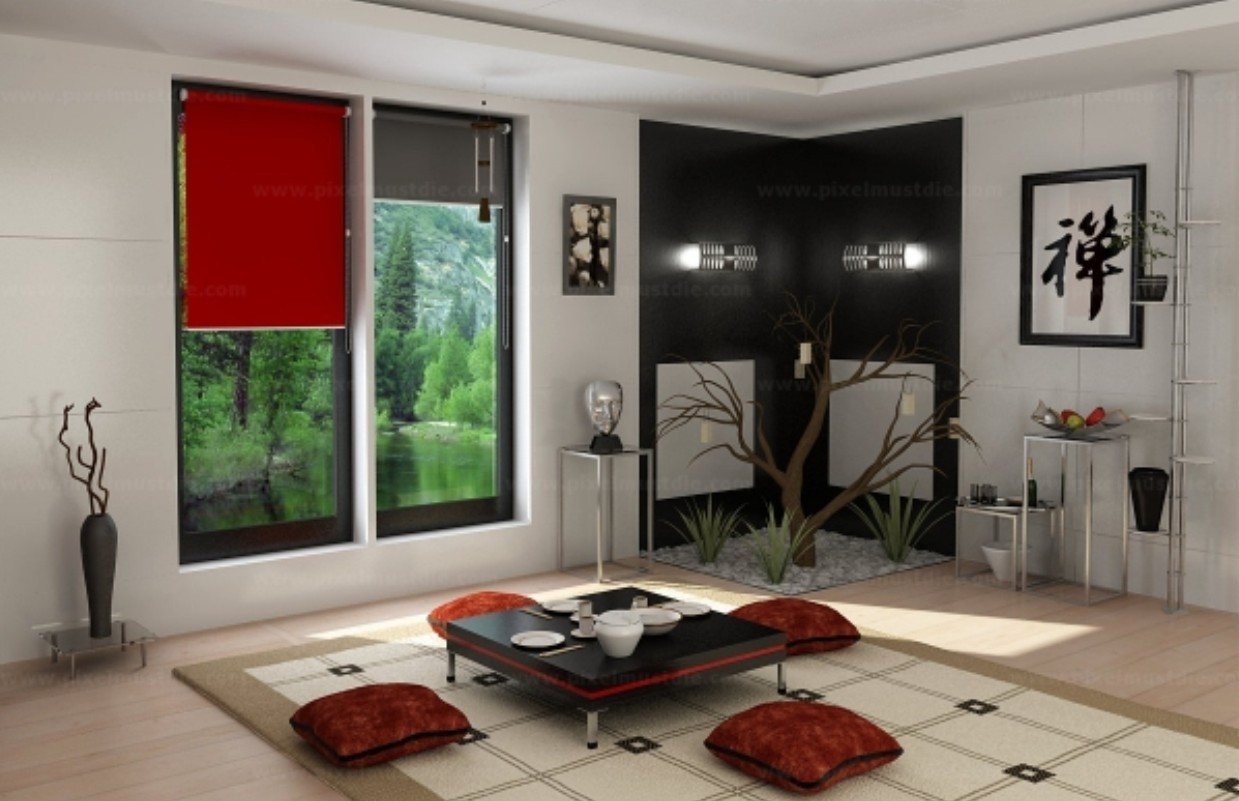 Chinese-traditional-living-room-interior-design-3D | Interior Design