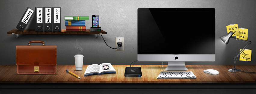 Graphic Design Desk