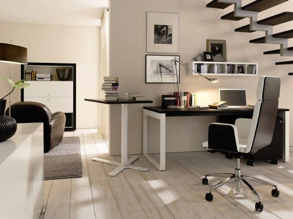 Home office idea for those who wish to use space under the staircase ...