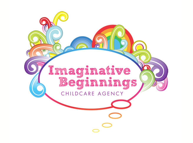 colourful new logo we designed for Imaginative beginnings childcare
