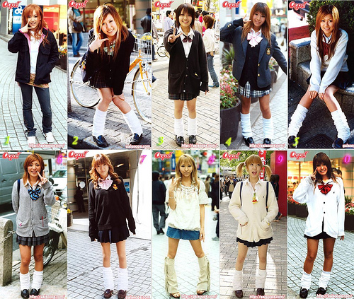 Japanese School Girls in their Uniforms. Credits to Flickr