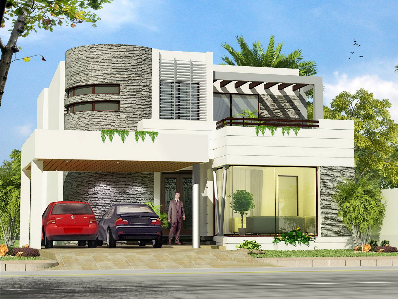 New home designs latest.: Modern homes beautiful latest exterior homes ...