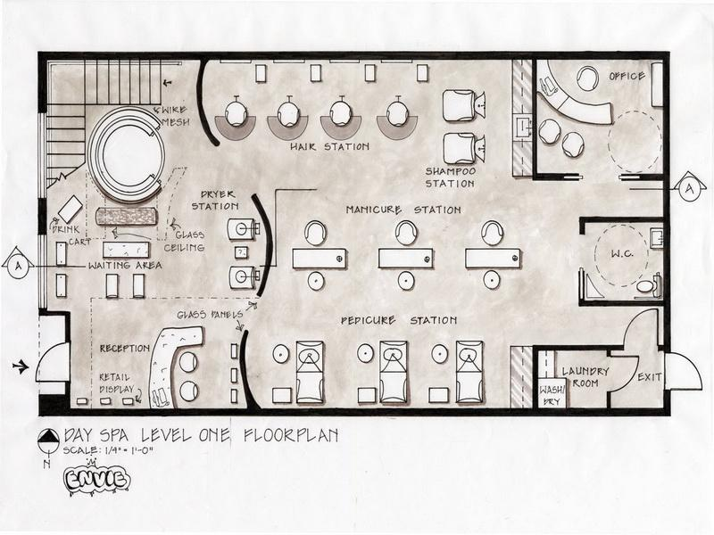... Salon Floor Plans: Salon Floor Plans Day Spa Level Design – Stroovi