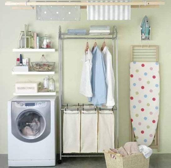 Laundry Room Shelves Ideas » Small shelves laundry room design ideas