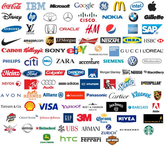 Top 100 brand logos   SiliconANGLE