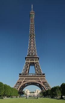 Famous Landmarks - Satellite View of the Eiffel Tower, Paris, France ...