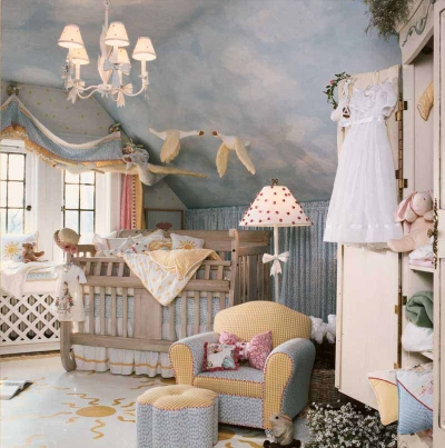... sky blue nursery. Designer: Pamela DiCapo. Retailer: Lauren Alexandra