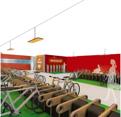 Interior design: Bicycle parking for the future