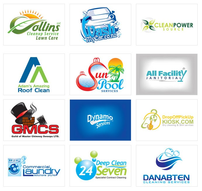 Custom Logo Design by LogoProDesign: Cleaning Services Logo Design