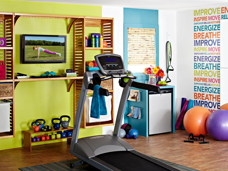 Colorful And Inspiring Home Gym Design | DigsDigs