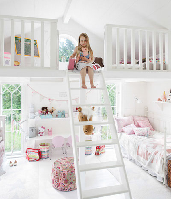 bedrooms is designed for two little girls has two parts bed the top ...