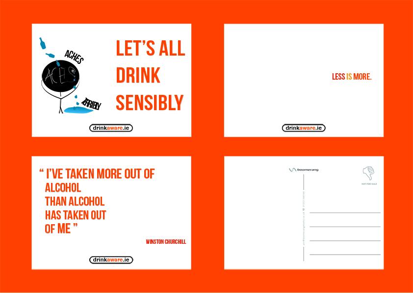 Drink Aware Postcard Design | graphic design blog
