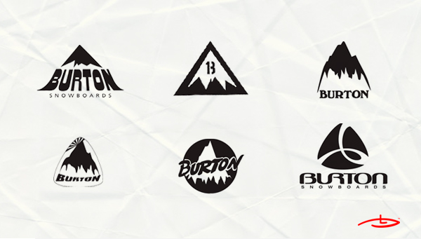 old Burton mountain logos